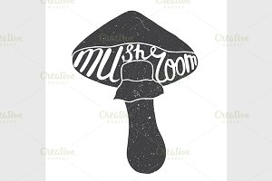 Mushroom graphic drawing