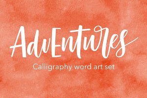 Calligraphy word art set