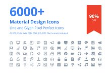 6000+ Material Design Icons