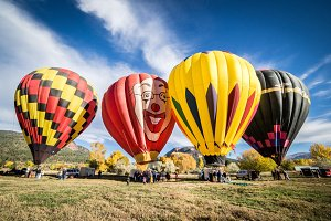 Hot Air Balloons at Festival