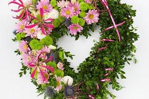 Heart shaped wreath