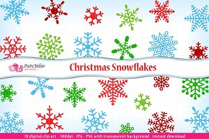 Christmas Snowflakes clipart