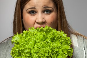 Woman annoyed by diet