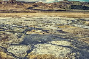 Sulphur and volcanic earth