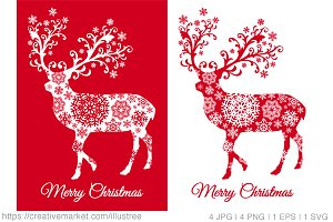 Christmas cards with reindeer