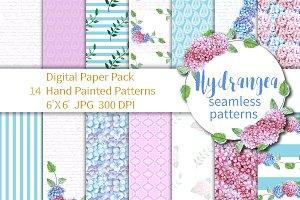 Hydrangea digital paper
