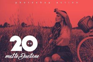 20 Matte Duotone Actions V.2