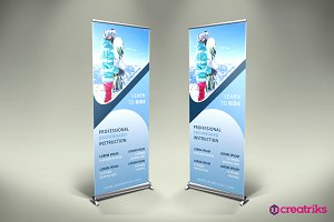 Ski Resort Roll Up Banner - v020
