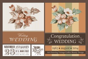 Wedding Flowers Apple Card Frame Set
