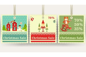 Christmas Sale Price Tags