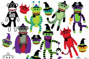 Halloween Sock Monkeys Graphics