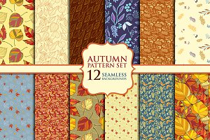 Autumn pattern set