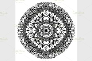 Mandala for coloring book