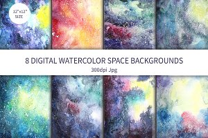 Watercolor Space background Vol.1