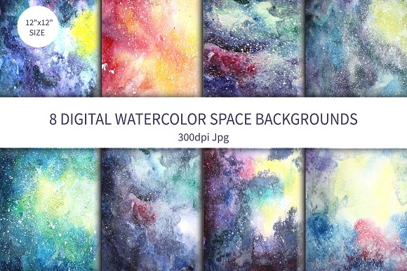 Watercolor Space background Vol.1 - Textures