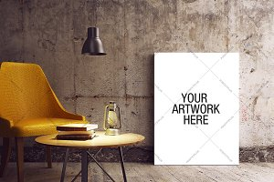 Canvas Mockup Industrial Style