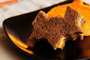 Grilled Cheese Halloween theme food