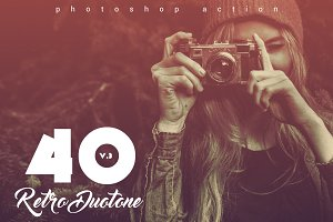 40 Retro Duotone Actions V.3