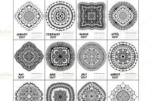Mandala and Flora Calendar 2017