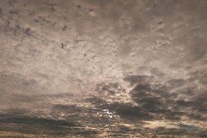 Sunrise yellow clouds. Freedom. Freshness