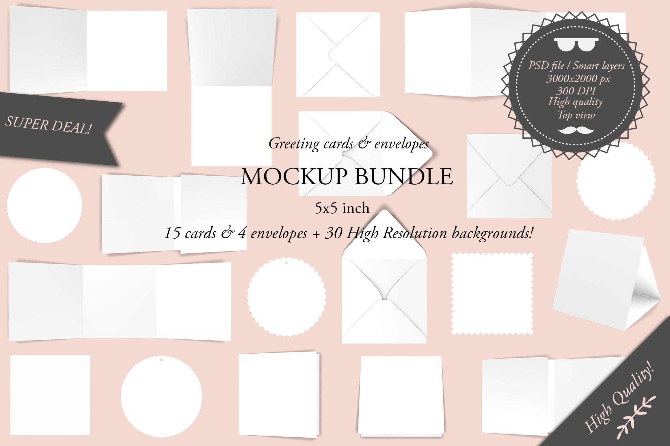 Greeting Cards 5x7 Mockup Bundle Product Mockups Creative Market