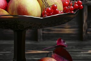 Apples in vase for fruits