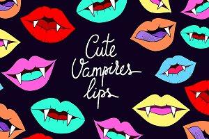 Cute vampires lips