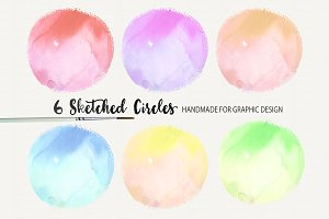 Watercolor Sketched Circles