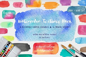 Vibrant Watercolor Textures Pack