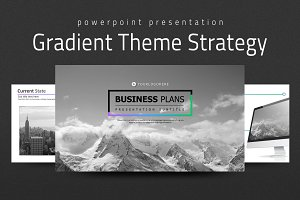 Gradient Theme PowerPoint Strategy