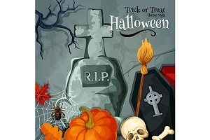 Halloween holiday greeting card
