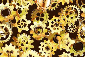 Clockwork mechanism seamless pattern