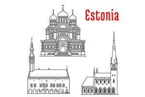 Estonia historic architecture