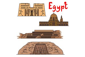 Egypt ancient landmarks