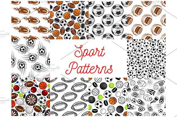 Sport Items Seamless Patterns