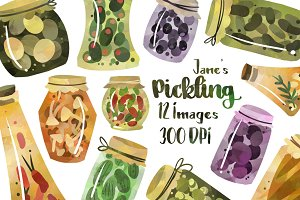Pickles and Preserves Clipart