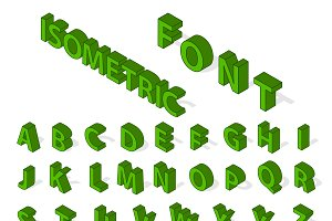 Isometric alphabet vector