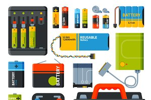 Battery electricity charge vector
