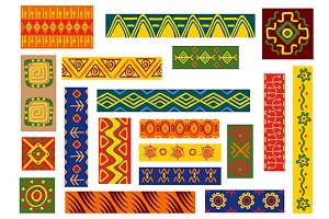 African ethnic ornaments