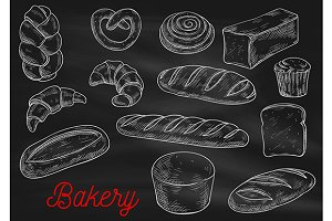 Bread sorts and bakery sketches
