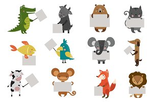 Wild animal zoo vector