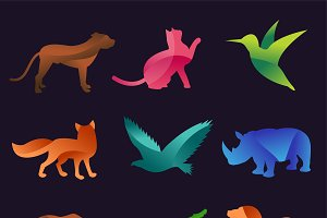Animal zoo vector icon