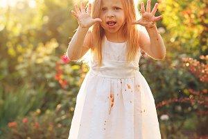 Little girl scares.