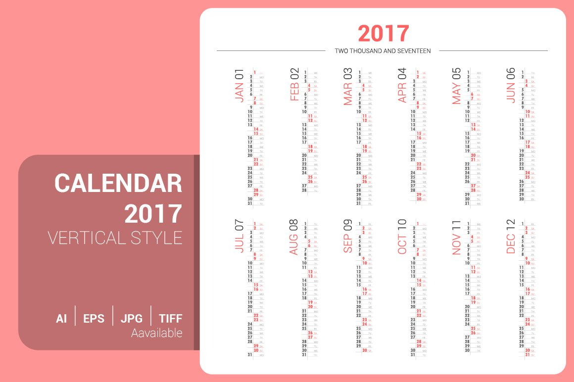 Vertical Calendar Design : Calendar vertical design stationery templates