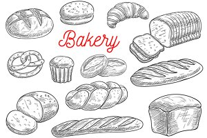 Bread and pastry sketches