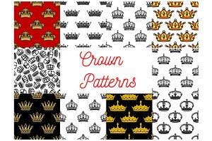 Vector pattern of royal crowns