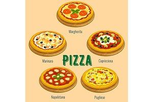 Italian pizza sorts