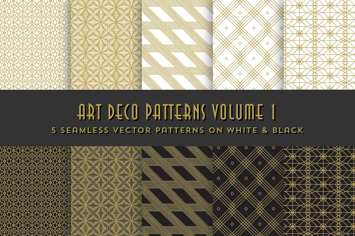 Art Deco Patterns Volume 1 ~ Graphic Patterns ~ Creative Market