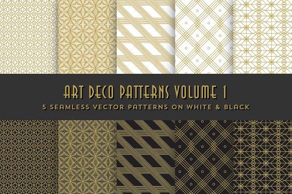 Art Deco Patterns Volume 1 ~ Patterns ~ Creative Market