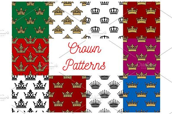 Crowns Seamless Patterns